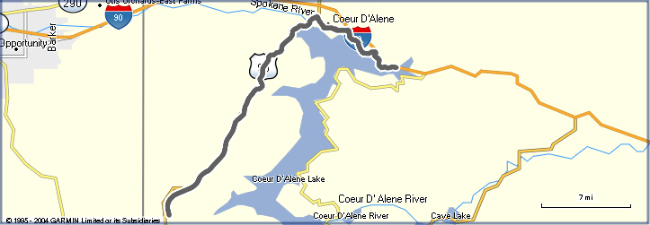 Ironman Coeur d'Alene Bike Route